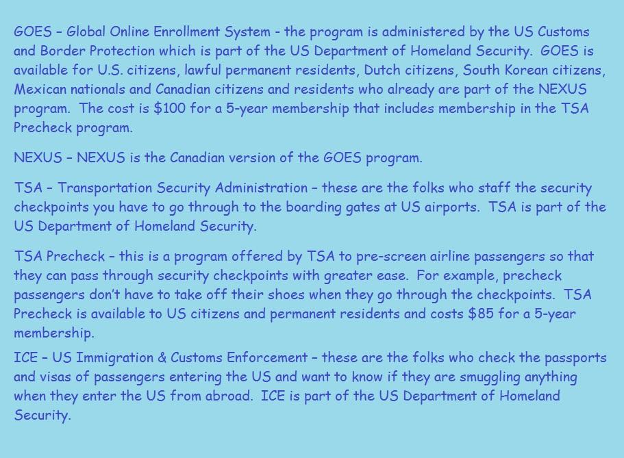 GOES TSA TSA PreCheck